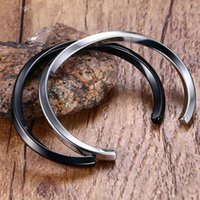 Bangle Stainless Steel Gifts For Women Men Black Silver Gold Color Twisted Design Open Cuff Bangles Bracelets Jewelry