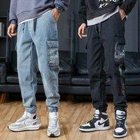 Jeans masculinos para hombre estilo casual moda pantalones sueltos primavera y otoño harlem mono para hombres
