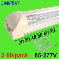 Birnen 2-50 / Pack-Doppelreihe LED-Röhre Beleuchtung 2ft 3ft 4ft 5ft 6ft 8ft SUPER HELLES TWIN BAR LAMP T8 Integrierte Birne-Befestigung mit Armaturen