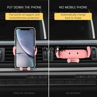 Cute Car Phone Holder Air Vent Mount Mobile Phone Stand Holder For Car Cell Phone Holder Support Smartphone Voiture