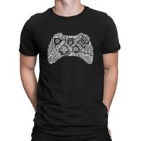 Мужские мышления джойстик футболки Tee Tops Новая печать юмористические мужские футболки 100% хлопок летний стиль Anlarach Family [KXHIB97 @ 163