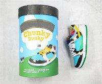 2021 Authentic Ben Dunk Jerrys Pro QS SB SB Basso Chunky Dunky Shoes FF Imballaggio Bianco Laguna Pulse Black University Gold Skateboard Snakers all'aperto con scatola originale