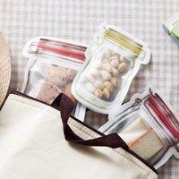 Gıda Tasarrufu Saklama Kapları 3/4 adet Şeffaf Taze Tutucu Çanta Şişe Şeklinde Bisküvi Çanta Zip-Kilidi Mutfak Aksesuarları