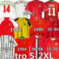 Giggs 1982 90 92 93 94 95 96 98 15 16 Уэльс Ретро Футбол Футбол Джетки Bale Hughes Saunders Rush Boden Урожай Винтаж Классические футболки Униформа
