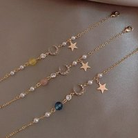 Link, Chain Fashion Couple Adjustable Stars And Moon Bracelet For Women 2021 Bohemian Jewelry
