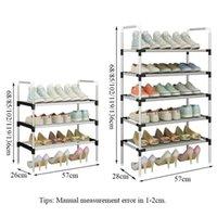 رف الأحذية مع الدرابزين سهلة لتجميع الأحذية تخزين الجرف توفير المساحة المنظم إغلاق خزانة الملابس الباب