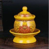 Brûleur d'encens en céramique Style Guanyin Fourniture d'eau Purification du ménage pour Buddha Fournitures Vases Wshyufei