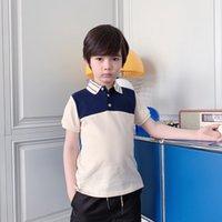 2021 Bébé Boys Polo Mode d'été Enfants Garçon Coton Coton T-shirt Enfants Vêtements