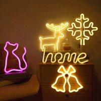 Night Lights LED Neon Light Sign Battery PoweredIndoor Decoration For Kids Room Living Festive Party Wedding Lamp