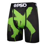 Boyut S-XL Tasarımcı PSD Külot Boksörler Karikatür Baskı erkek Buz Ipek Boxer Şort Koşu Spor Spor Erkekler Için Uzun Iç Çamaşırı