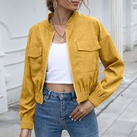 Autumn and winter casual women's short jacket jacket jacket woman