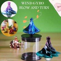 2021 Spinning Top e Fingertip Gyro Brinquedos para Crianças, Vento Do Blow, Fidget-Spinner Cool Stress Reliever Toy F Descompression por atacado