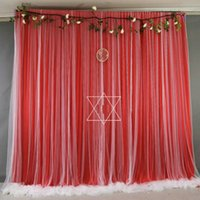 Party Decoration Magic Red Chiffon Backdrop Bridal Wedding Birthday Pography Tulle Background Curtains Panels Born Baby Shower Decor