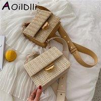 Bags Bali Hand Woven Bolsa Feminina Square Buckle Rattan Straw Satchel Wind Bohemia Beach Wicker Bolso Paja OXQ5