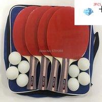 Pong 4 플레이어 전문 테이블 테니스 라켓 패들이 8 개의 공 레어로 설정
