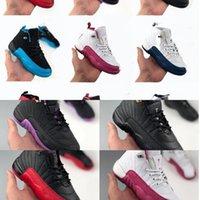 Eur28-35 chaussures bébé chaussures de basketball enfants enfants 12s xii taxi gris foncé rose vif rose gym français gymnase rouge le match de grippe jeu fille filles