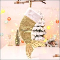 Festive Party Supplies Home & Gardenknitted Woolen Ornaments Candy Christmas Decorations Gift Bags Pendant Bag Socks1 Drop Delivery 2021 Isw