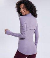 L-78 otoño invierno nuevo cremallera chaqueta secado rápido ropa de yoga ropa de yoga manga larga pulgar agujero entrenamiento corriendo chaqueta mujeres piglulu slim fitness abrigo parte superior