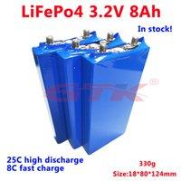 GTK 3.2 V 8AH LIFEPO4 Hücre 3.2 V Lityum Pil 25C Yüksek Hız 8C Hızlı Şarj DIY 12 V 24 V Başlat Pil Trolling Tekne 20AH 40AH