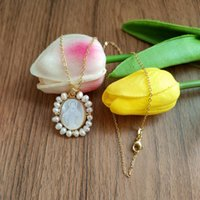 Pendant Necklaces Promotion! Natural Lady Baby & Guadalupe San Benito Mother Pearl Necklace Freshwater Grace For Women Gift