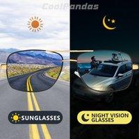 Top Square Men Ó Óculos de Sol Photochromic Photochromed Sol Mulheres Ao Ar Livre Driving Chameleon Lens para Day Night Vision Óculos