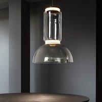 북유럽 유럽 LED 크리스탈 매달려 램프 집광 펜 던 트 조명 조명기 산업 반지 거실