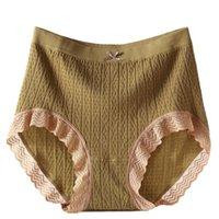 Women's Panties Women Organic Bubble Cotton Cute Bowknot Brief Female Stretch Underwear Lady High Waist Sexy Lace Big Size Underpants