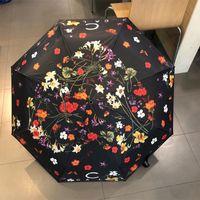 Womens Silk Patio Guarda-chuva Flor Designer Guarda-chuvas Viagem Parasóis Ao Ar Livre Beach Ball Handle Sun Rain Luxurys Seiasae
