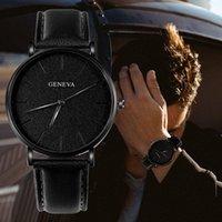 Brand Fashion Casual Men Watch Semplice Design Design Quartz Orologi da polso in pelle Sport MONTRE HOMME Reloj Hombre WristWatches