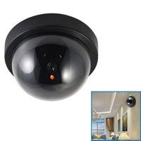 كاميرات قبة محاكاة السرقة إنذار كاميرا داخلي وهمية كاميرا ويب في الهواء الطلق مراقبة المنزل الصمام الخفيفة محاكاة الدوائر التلفزيونية المغلقة للإنذار
