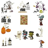 Painting Supplies Halloween Collection Craft Metal Cutting Dies Molds DIY Scrapbook Embossing Handmade Holiday Card Mold 2021