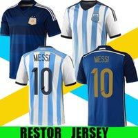 2010 2010 2010 الأرجنتين الرجعية لكرة القدم جيرسي كلاسيك خمر لكرة القدم قميص Higuain صموئيل ميسي أجويرو تيفيز دي ماريا باليرمو ماسشيرانو ميلتو 10 11 منزل بعيدا
