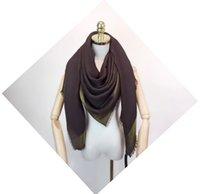 2021 패션 Pashmina 실크 스카프 체크 바다나 여성 럭셔리 디자인 스카프 Echarpe de Luxe 풀라로드 무한대 목도리 여성 스카프 크기 140 * 140cm