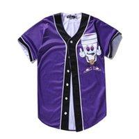 3D Baseball Jersey Men 2021 Fashion Print Man T Shirts Short Sleeve T-shirt Casual Base ball Shirt Hip Hop Tops Tee 039