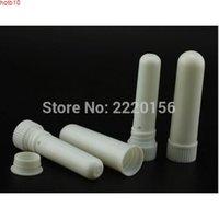 2000pcs / lot العلامة التجارية الجديدة اللون الأبيض فارغة الأنف الاستنشاق العصي، أنبوب محمول معقم، البلاستيك الاسنان