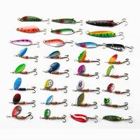 30 teile / satz Spinner Baits Löffel Angeln Köder Lure Kit Sets 4-7 Schwimmköder Köder für Outdoor Große Fische leicht zum Angeln