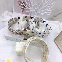 Moda Donna Lettere Pattern Leopard Stampa Stampa Fascia Coreana Designer Vintage Designer Outdoor Sport da corsa GRANDI EDEGGIO ARDACCIO CRESCIALE CHARDED Hair Hoop Headwraps Accessori