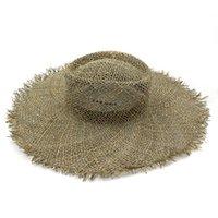 11 سنتيمتر الصيف واسعة بريم القبعات البحر شاطئ كاب المرأة رافيا القش قبعة امرأة حماية الشمس قبعات الفتيات أزياء السفر sunhat 2021