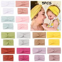 Hair Accessories Mom Mother & Daughter Kids Baby Girl Bow Headband Band Parent-Child Family Headwear Head Headdres 5PCS #g