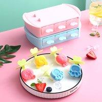 DIY Kendinden Yapılmış Dondurma Kar Kek Kalıpları Mutfak Aletleri Karikatür Sevimli Stick Kek Popsicle Kalıp Ev Yapımı Aracı WY1362