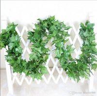 Decorative Flowers & Wreaths 2.2m Artificial Fake Plants Green Ivy Leaves Grape Vine Greenery Garland Wedding Flower Home Decoration