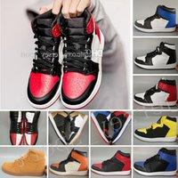 Novo OG 1 Top 3 Sapatos de Basquete Mens Bred Toe Chicago Banned Royal Blue Fragment UNC homenais a casa New Love City of Flight Sneakers Sports