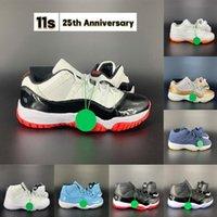 Chaussures de basketball de Jumpman 11 11S 25ème anniversaire Concord Velvet Heirress Légende Gamma Bleu Space Confiture Bred 2021 Black Hommes Femmes Baskets Baskets