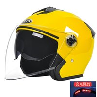 Motorcycle Helmets LED Smart Half Helmet Man Woman Vintage Removable Scooter Cycling Bike Electric Moto Open Face Safety