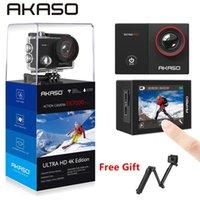 Akaso Go EK7000 PRO 4K Действие камеры с сенсорным экраном EIS регулируемый угол обзора 40M камеры дайвинга дистанционного управления спортивная камера 210319