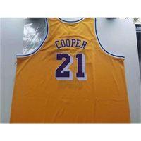 888Rare jersey de basquete homens juventude mulheres 1984-85 michael cooper tamanho colégio s-5xl personalizado todo nome ou número