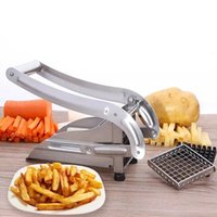 Stainless Steel French Fry Cutter,Vegetable and Potato Slicer,with 2 Blade Size Cutter Option,for Air Fryer Food Kitchen Gadgets 210319