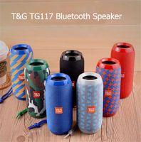 TG ترقية الحالات TG117 اللاسلكية بلوتوث المتكلم المحمولة المكونات في بطاقة الرياضة في الهواء الطلق الصوت مزدوجة القرن مكبرات الصوت للماء 7 ألوان