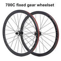 عجلات الدراجة 700C ثابت والعتاد العجلات 2 مختومة محامل سبيكة 40 ملليمتر الفاصلة دراجة فيلو رولر