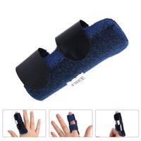 새로운 통증 완화 알루미늄 손가락 부목 골절 보호 중괄호 교정기 지원 조절 식 테이프 붕대 EWE7456
